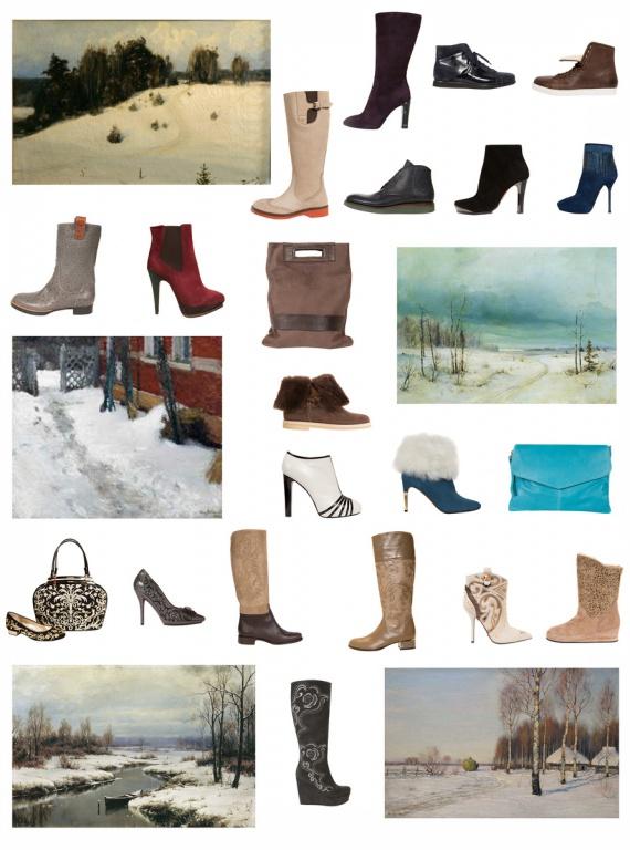Зимние мотивы в русской пейзажной живописи и итальянской обуви