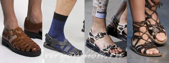 Мужские сандалии лето 2014