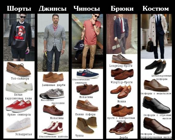Что к чему: таблица совместимости брюк и обуви