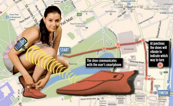 Новая умная обувь может взять на себя роль GPS-навигатора