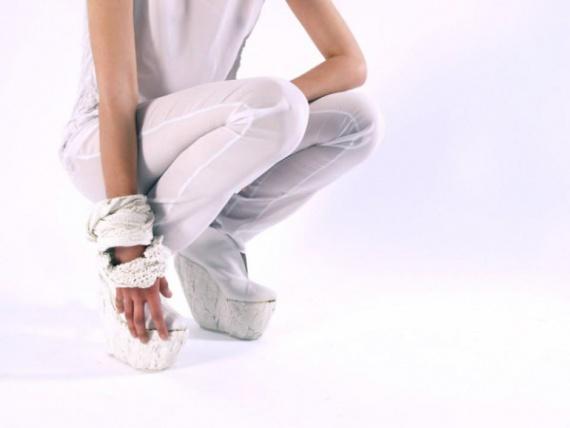 Модные фарфоровые туфли на платформе