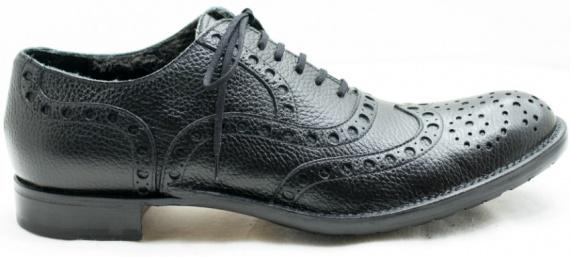 Туфли-броги из кожи
