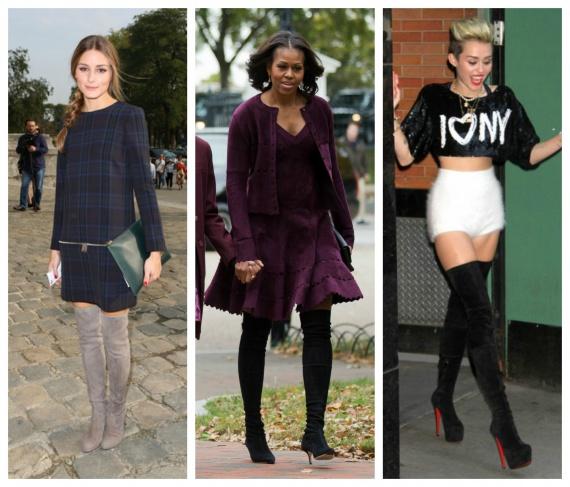 Модные сапоги 2013: Звезды в ботфортах