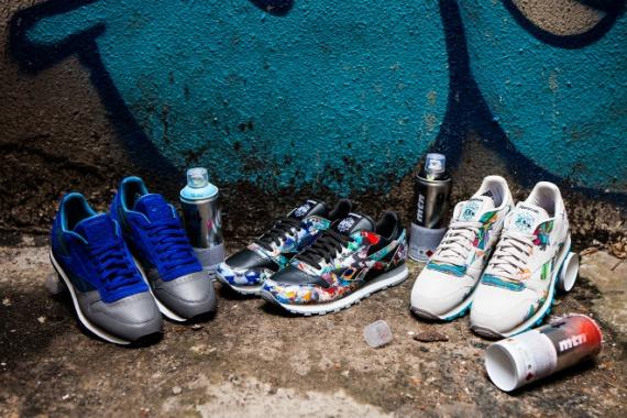 Кроссовки, расписанные уличными художниками