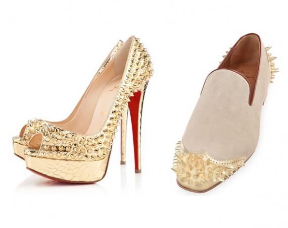 Колючая обувь от Christian Louboutin для нее и для него