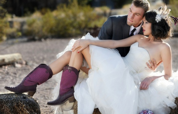 Фиолетовые сапоги: с чем носить?