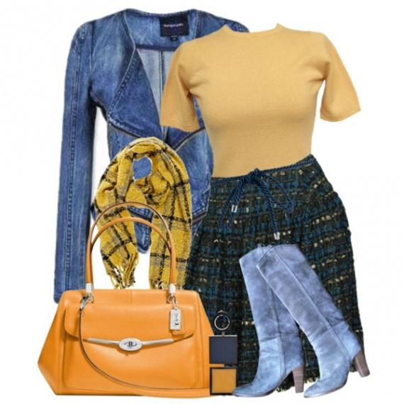 Синие сапоги: с чем носить?