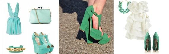 С чем носить зеленые туфли